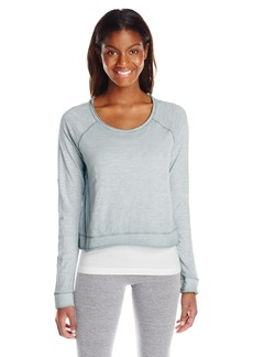 kensie Performance Women's Airbrushed Scoop-Neck Sweatshirt