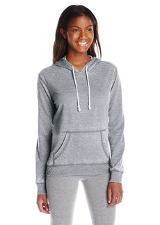 kensie Performance Women's Distressed ICY Fleece Hoodie Sweatshirt