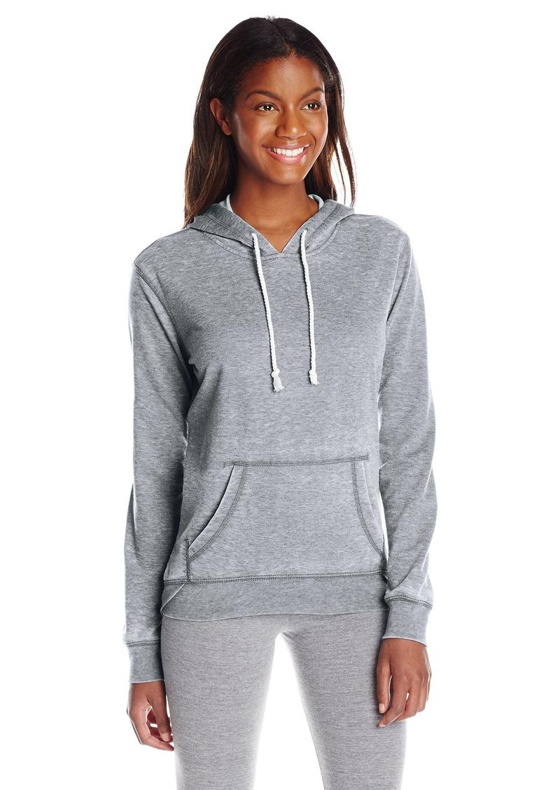 kensie Performance Women's Distressed ICY Fleece Hoodie Sweatshirt