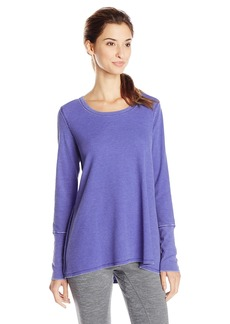 kensie Performance Women's Distressed Thermal T-Shirt