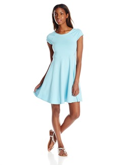 Kensie Performance Women's Lace Inset Skater Dress