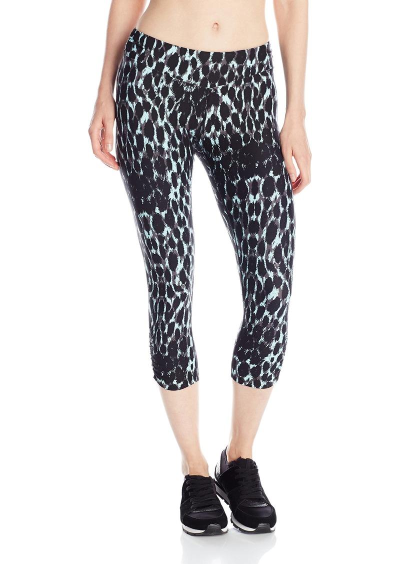 kensie Performance Women's Lynx-Print Crop Legging