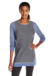 Kensie Performance Women's Mixed Media Tunic