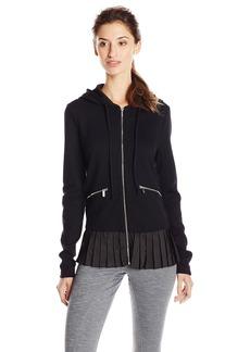 kensie Performance Women's Ponte Knit Hooded Jacket