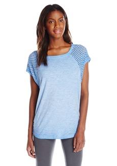 Calvin Klein Women's Punched Jersey Cap Sleeve Cocoon Tee