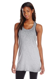 kensie Performance Women's Punched Jersey Oversized Tank Shirt