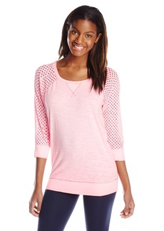 kensie Performance Women's Punched Jersey T-Shirt