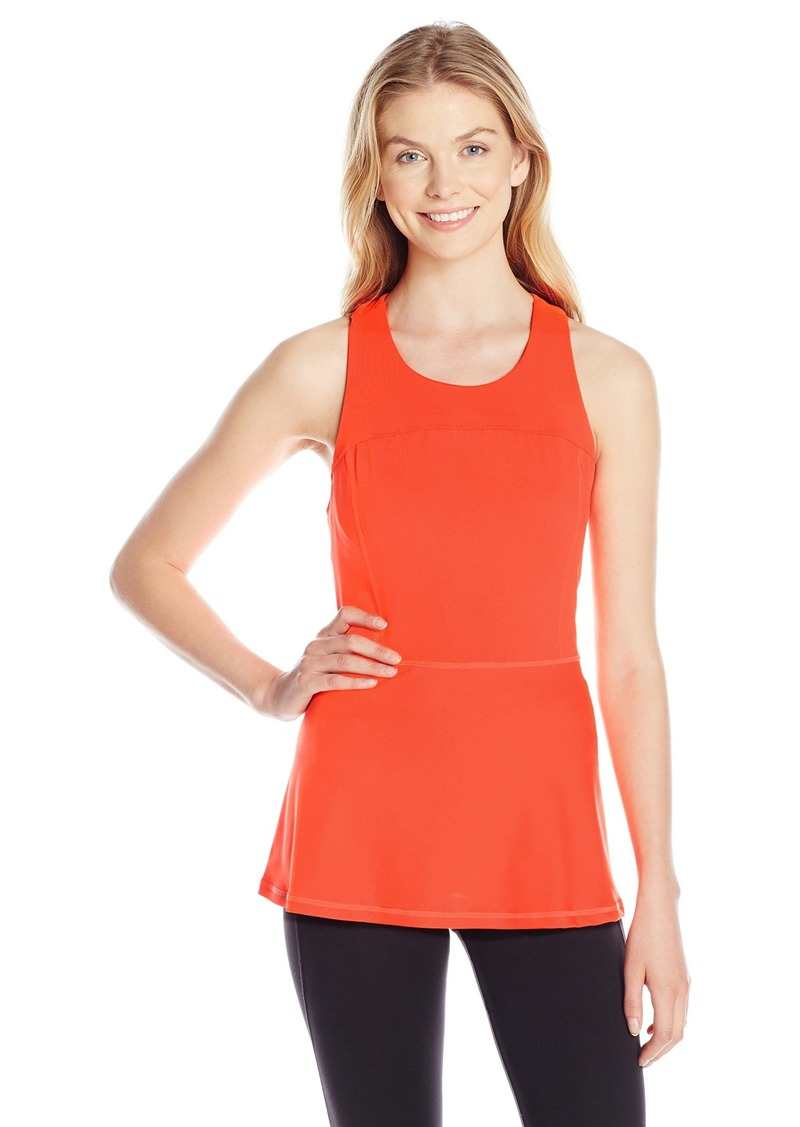 kensie Performance Women's Racerback Peplum Top