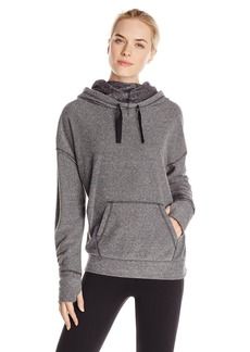 kensie Performance Women's Speckle Fleece Funnel Neck Sweatshirt
