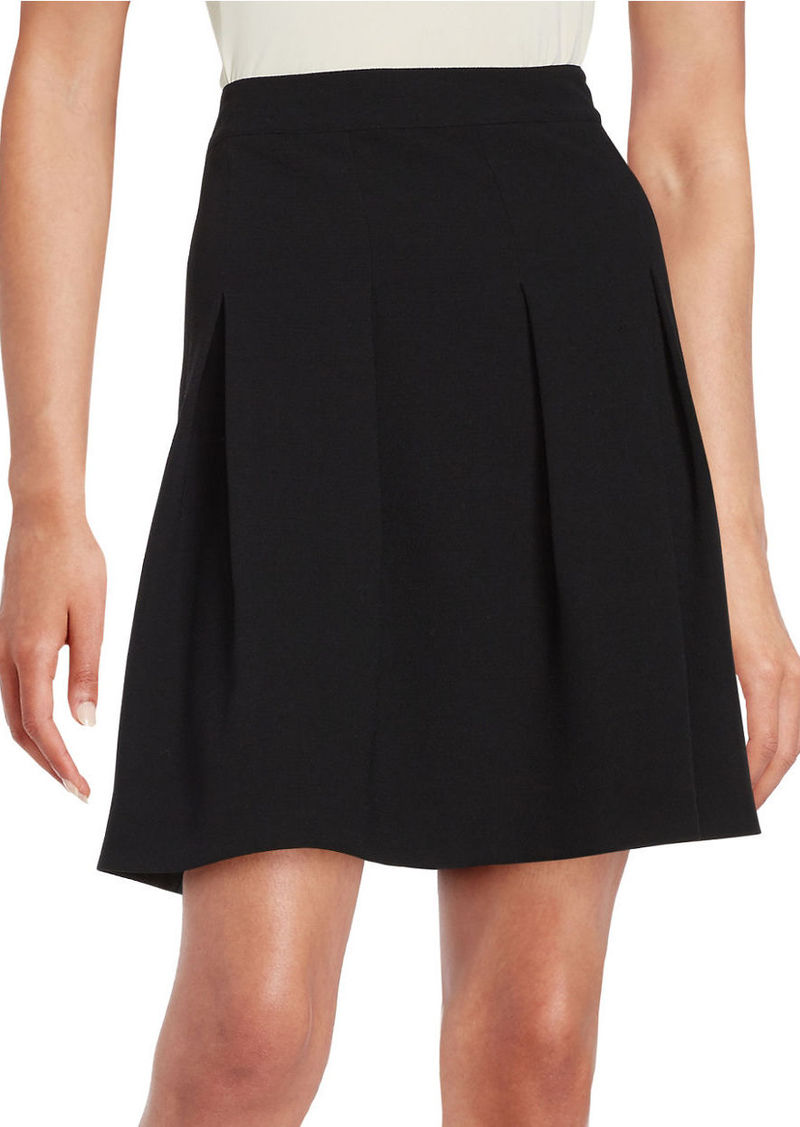 KENSIE Pleated Crepe Skirt