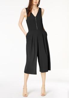 kensie Pleated Cropped Wide-Leg Jumpsuit