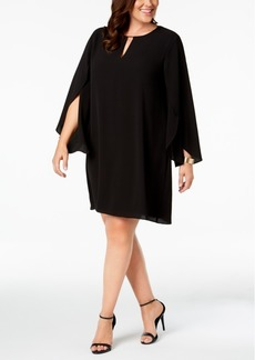 kensie Plus Size Keyhole Shift Dress