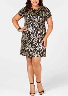 kensie Plus Size Sequin Sheath Dress