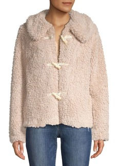 Kensie Plush Teddy Coat