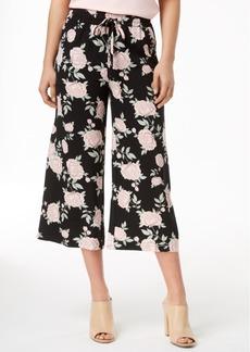kensie Printed Cropped Wide-Leg Pants