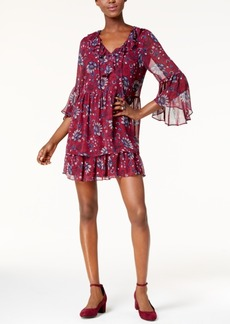 kensie Printed Peasant Dress