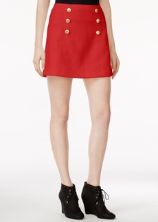 kensie Quilted Button-Detail Skirt