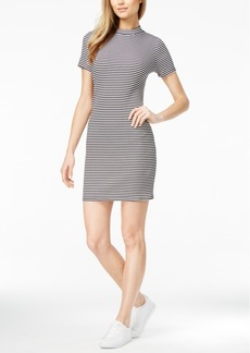 kensie Ribbed Mock-Neck Dress
