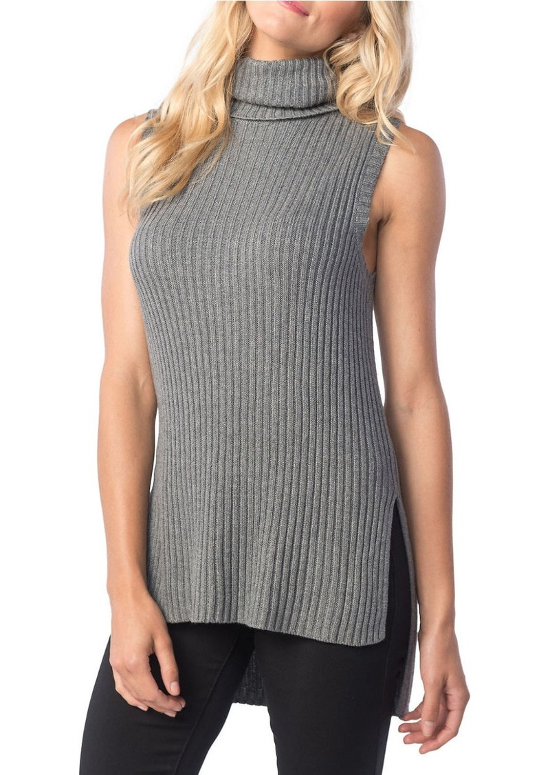 KENSIE Ribbed Sleeveless Sweater