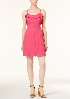 kensie Ruffled Button-Front Dress