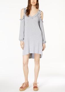 kensie Ruffled Cold-Shoulder Dress