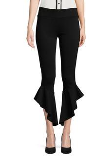 Kensie Ruffled Cropped Pants