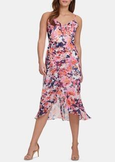 kensie Ruffled High-Low Dress