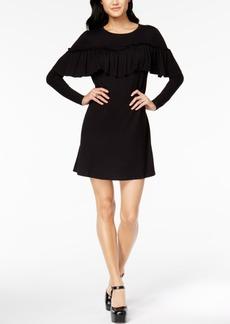 Kensie Ruffled Sweater Dress