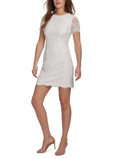Kensie Scallop Lace Sheath Dress