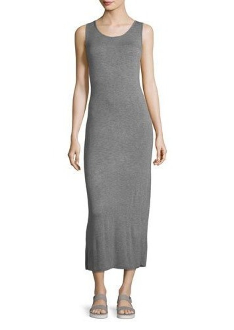 kensie scoop-neck twist-back sleeveless jersey midi dress