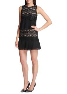 Kensie Dresses Sequin Lace Chiffon Dress