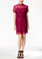 kensie Short-Sleeve Lace Dress