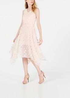 kensie Sleeveless Applique Midi Dress