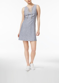 kensie Sleeveless Lace-Up Dress