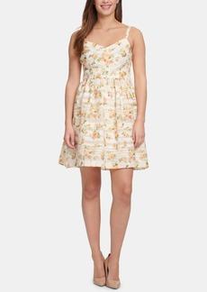 kensie Sleeveless Printed Fit & Flare Dress