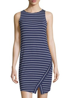 kensie sleeveless striped jersey dress