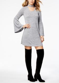 kensie Space-Dyed Choker Dress