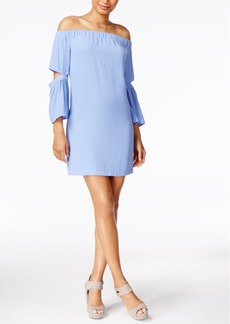 kensie Split-Sleeve Off-The-Shoulder Dress