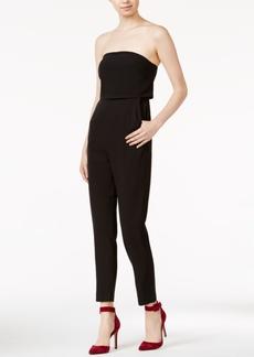 kensie Strapless Straight-Leg Jumpsuit