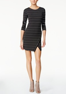 kensie Striped Envelope-Hem Dress