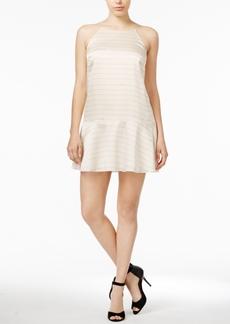 kensie Striped Fit & Flare Dress
