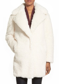kensie 'Teddy Bear' Notch Collar Reversible Faux Fur Coat (Online Only)