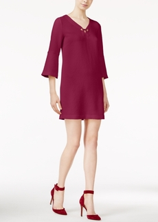 kensie Textured Bell-Sleeve Dress