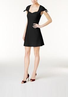 kensie Tie-Sleeve Fit & Flare Dress