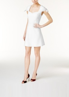 kensie Tie-Sleeve Fit & Flare Dress