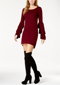 kensie Tiered-Sleeve Sweater Dress