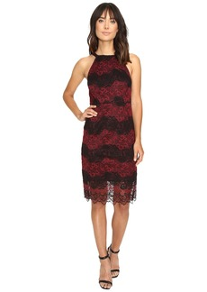 kensie Two-Tone Embroidered Lace Dress KS9K7132
