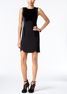 kensie Velvet Contrast Sheath Dress