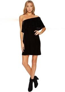 Velvet One Shoulder Dress KSNK8266