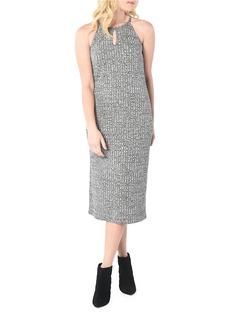 KENSIE Wide Rib Midi Dress